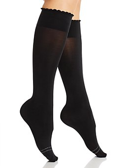 HUE - Graduated Compression Opaque Knee-High Socks
