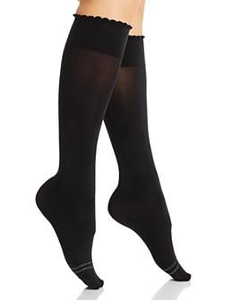 HUE - Graduated Compression Opaque Knee-High Socks