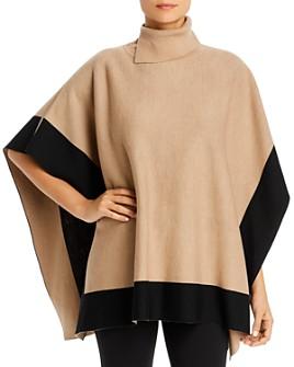 BOSS - Lisandra Virgin Wool Poncho Sweater