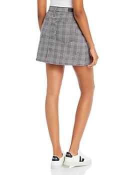 AG - Harlo Mini Skirt in Black/White Houndstooth