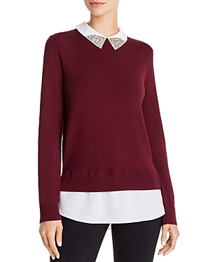 Ted Baker Liaylo Sparkle Collar Sweater - 100% Exclusive In Deep Purple