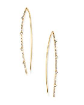 Moon & Meadow - Diamond Bezel-Set Threader Earrings in 14K Yellow Gold, 0.5 ct. t.w. - 100% Exclusive