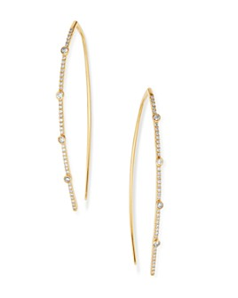 Moon & Meadow - Diamond Bezel-Set Threader Earrings in 14K Yellow Gold, 0.5 ct. t.w. - 100% Exclusive