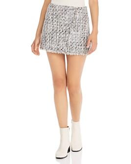 AQUA - Tweed Mini Skirt - 100% Exclusive
