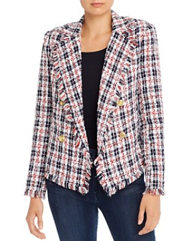 AQUA - Plaid Tweed Blazer - 100% Exclusive