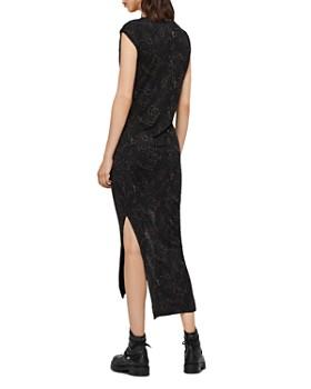 ALLSAINTS - Riviera Snakecharm Gathered Dress