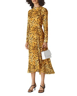Whistles - Ines Ikat Animal-Print Dress