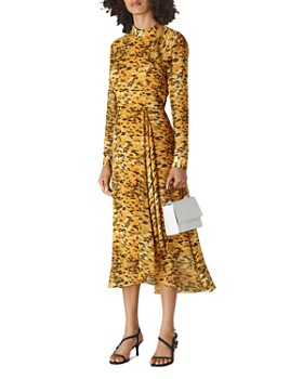 Whistles - Ines Ikat Animal-Print Dress