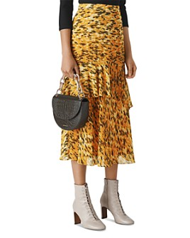 Whistles - Ikat Animal-Print Midi Skirt