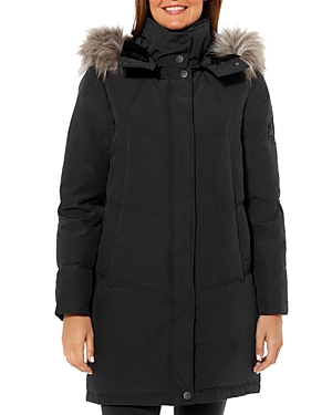 Vince Camuto Flash Faux Fur Trim Puffer Coat-Women