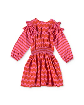 Stella McCartney - Girls' Zigzag Print Dress - Little Kid, Big Kid