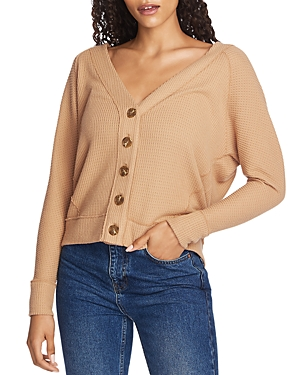 Image of 1.state Button-Front Pointelle Sweater