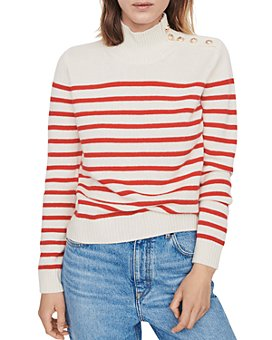 Maje - Montsi Striped Cashmere Sweater