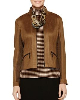 Misook - Mixed_Media Zip-Front Jacket