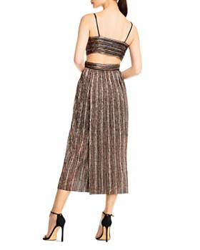 Aidan by Aidan Mattox - Striped Lurex Midi Dress