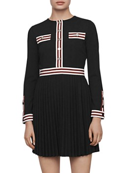 Maje - Rouli Striped-Trim Dress