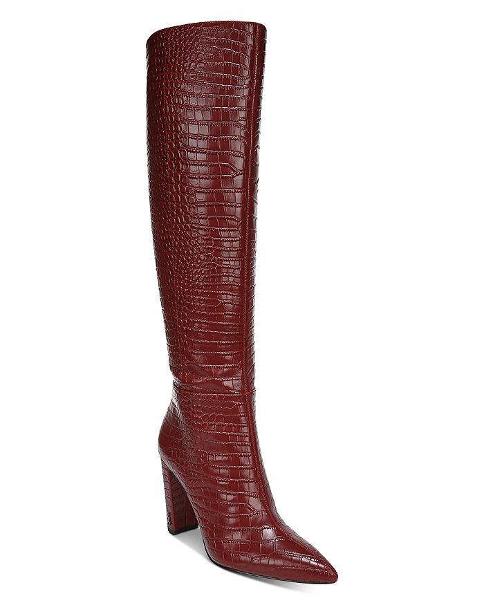 Sam Edelman - Women's Raakel 2 Croc-Embossed Block Heel Tall Boots
