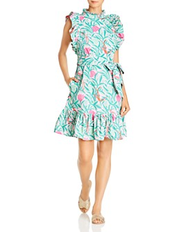 Banjanan - Bulbul Tulip & Bird Print Mini Dress