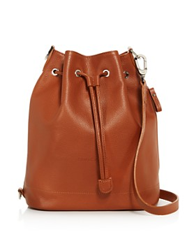 Longchamp - Le Foulonné Large Leather Bucket Bag