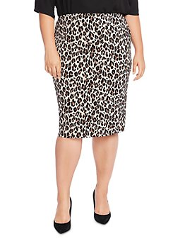 VINCE CAMUTO Plus - Elegant Leopard Pencil Skirt