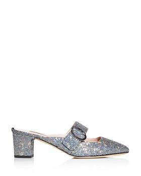 SJP by Sarah Jessica Parker - Women's Vamp Glitter Square-Toe Mules