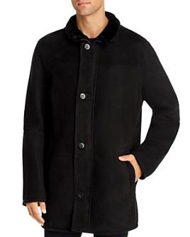 Maximilian Furs - Stand Collar Lamb Shearling Coat