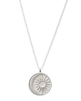 """Dogeared - Sun & Moon Medallion Necklace in Sterling Silver, 20"""""""