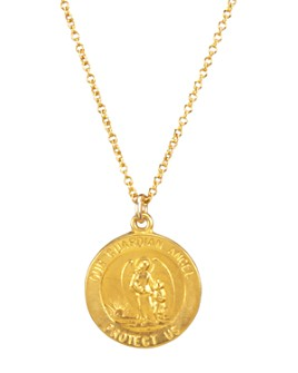 Dogeared - Guardian Angel Necklace in 14K Gold-Plated Sterling Silver, 16""