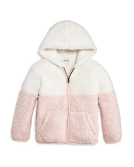 Splendid - Girls' Color-Block Sherpa Hoodie - Little Kid