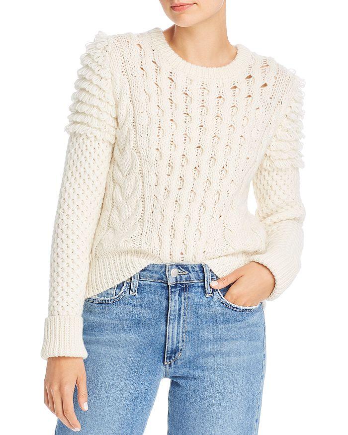 Eleven Six - Mixed-Knit Mila Sweater