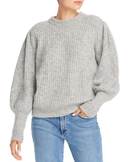 Notes du Nord - Meg Balloon-Sleeve Ribbed Knit Sweater