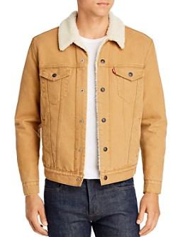 Levi's - Sherpa-Lined Regular Fit Denim Jacket in Desert Boots Canvas