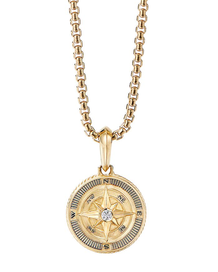 David Yurman - 18K Yellow Gold Maritime Compass Amulet with Diamond