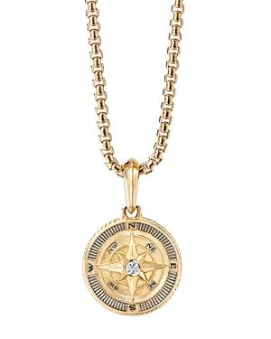 David Yurman 18K Yellow Gold Maritime Compass Amulet with Diamond