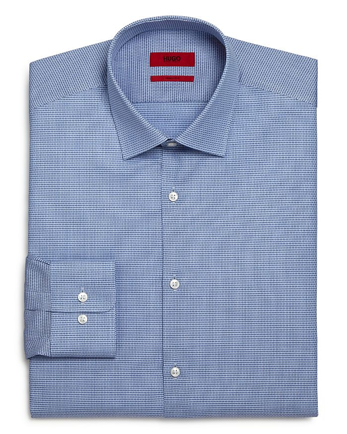 HUGO - Mabel Micro Check Regular Fit Dress Shirt