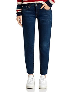 rag & bone - Dre Frayed Slim Boyfriend Jeans in New Worn