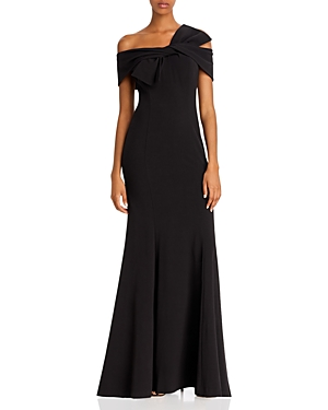 Eliza J Off-the-Shoulder Bow Gown-Women