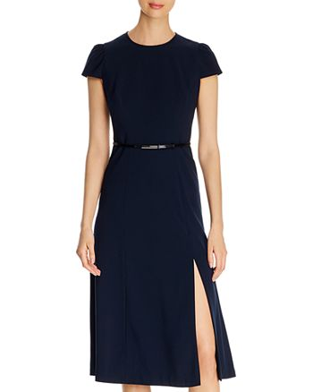 Elie Tahari - Miciela Belted Fit-and-Flare Dress