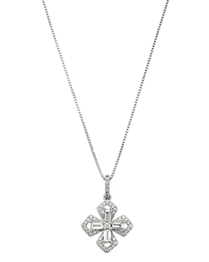 Bloomingdale's Diamond Cross Pendant Necklace in 14K White Gold, 0.30 ct. t.w. - 100% Exclusive