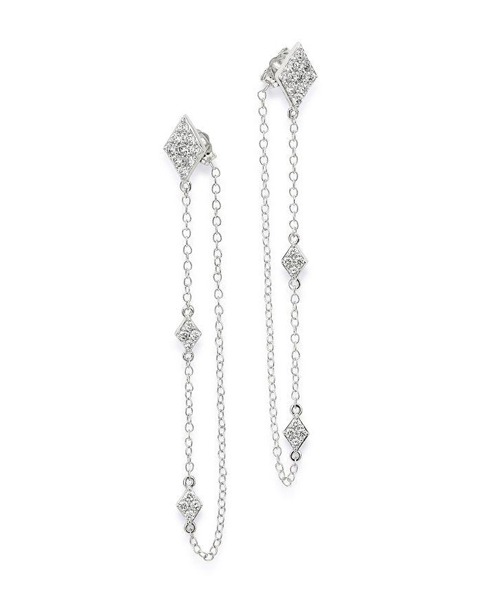 Bloomingdale's - Diamond Chain Drop Earrings in 14K White Gold, 0.50 ct. t.w. - 100% Exclusive