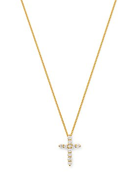 Bloomingdale's - Diamond Cross Pendant Necklace in 14K Yellow Gold, 0.33 ct. t.w. - 100% Exclusive
