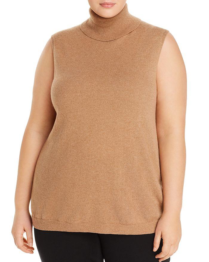 Lafayette 148 New York Plus - Cashmere Sleeveless Turtleneck Sweater
