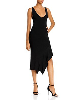 Cushnie - Asymmetric Flounced-Hem Midi Dress
