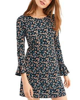 Free People - Say Hello Floral Mini Dress