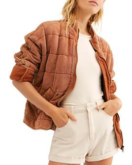 Free People - Quilted Dolman-Sleeve Jacket