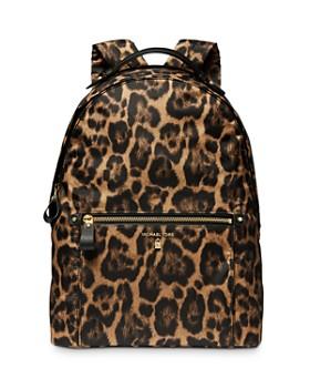MICHAEL Michael Kors - Kelsey Large Leopard-Print Nylon Backpack