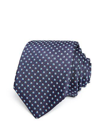 BOSS - Micro Florette Neat Silk Skinny Tie