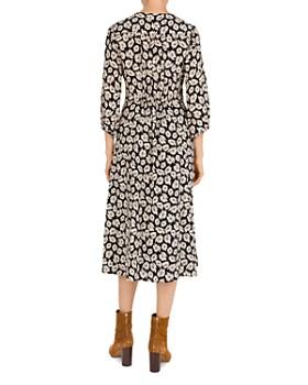 Gerard Darel - Floral-Print Silk Midi Dress