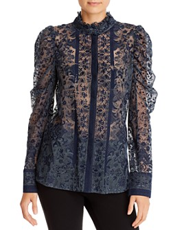 Kobi Halperin - Genna Striped Lace Blouse