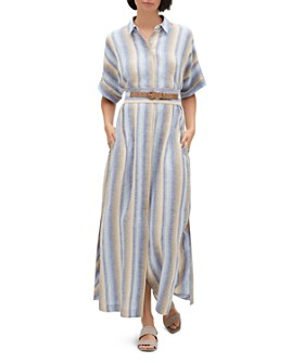 Lafayette 148 New York - Retha Striped Linen Shirt Dress